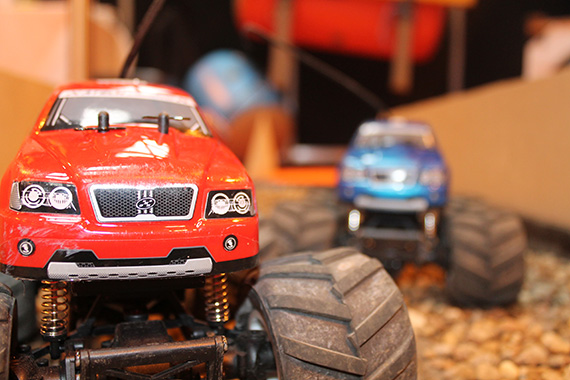 monster truck obstacle garlands corporate