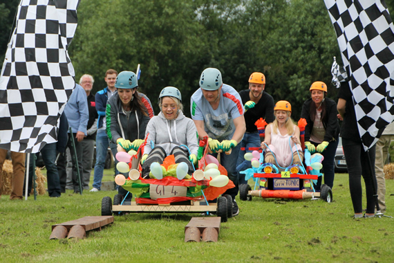 team go kart racing garlands corporate mythe farm
