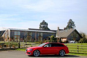 audi car launch mythe barn garlands corporate