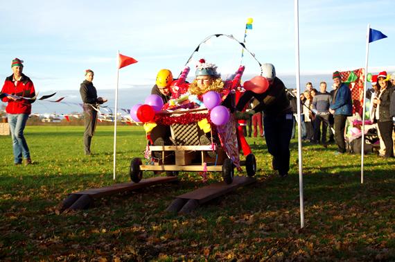 Sleigh racing mythe farm midlands